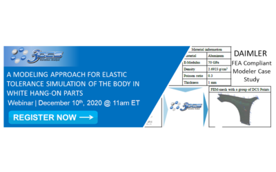 A MODELING APPROACH FOR ELASTIC TOLERANCE SIMULATION OF THE BODY IN WHITE HANG-ON PARTS